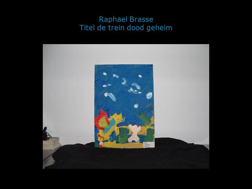 Raphael Brasse Titel de trein dood geheim