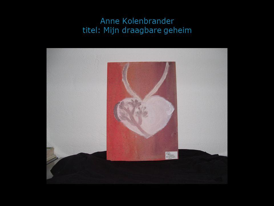 Anne Kolenbrander titel: Mijn draagbare geheim
