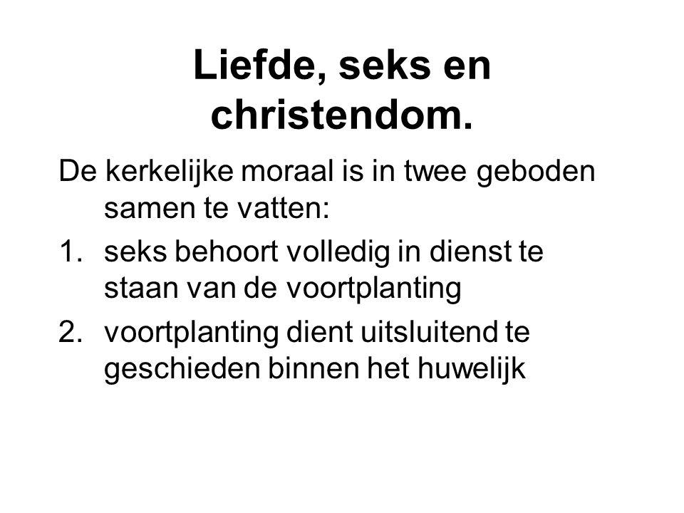 Liefde, seks en christendom.