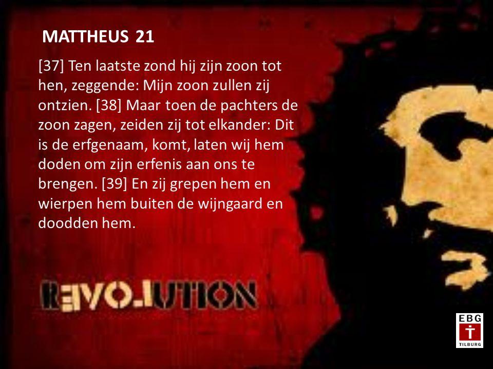 [37] Ten laatste zond hij zijn zoon tot hen, zeggende: Mijn zoon zullen zij ontzien.