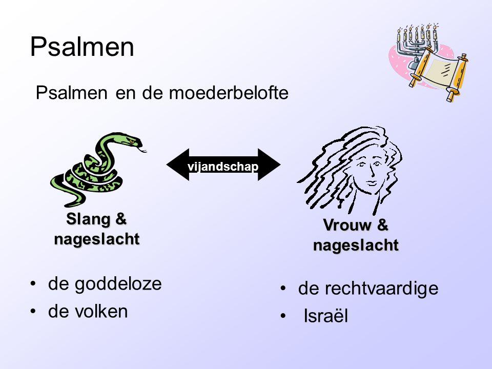 Psalmen de goddeloze de volken de rechtvaardige Israël Psalmen en de moederbelofte vijandschap Slang & nageslacht Vrouw & nageslacht