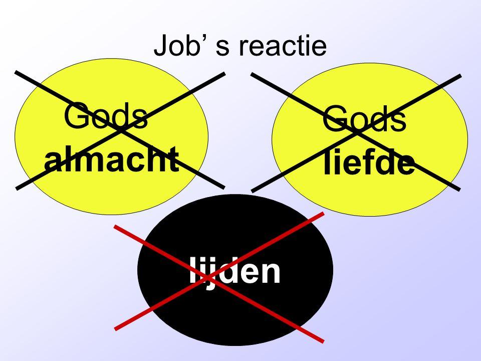 Gods almacht Gods liefde lijden Job' s reactie
