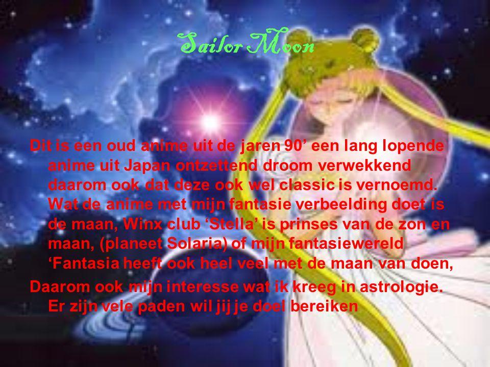 Sailor Moon Dit is een oud anime uit de jaren 90' een lang lopende anime uit Japan ontzettend droom verwekkend daarom ook dat deze ook wel classic is vernoemd.