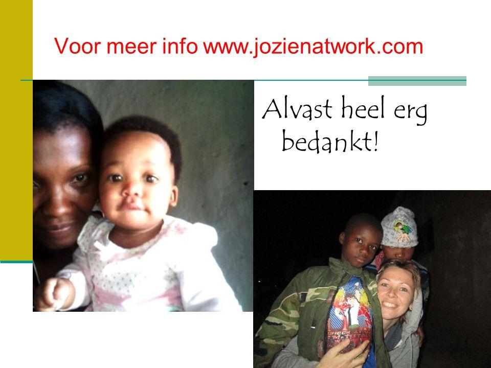 Voor meer info www.jozienatwork.com Alvast heel erg bedankt!