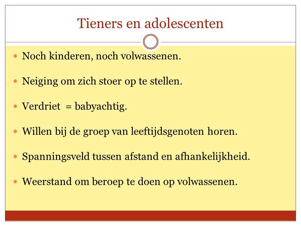 Tieners en adolescenten Noch kinderen, noch volwassenen.