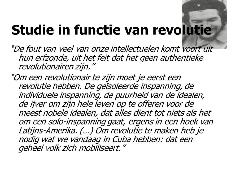 Studie nodig voor pol-ideol lijn 'Zonder revolutionaire theorie is er geen revolutionaire beweging'.