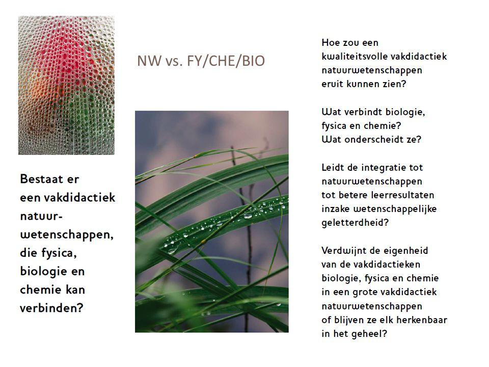 NW vs. FY/CHE/BIO