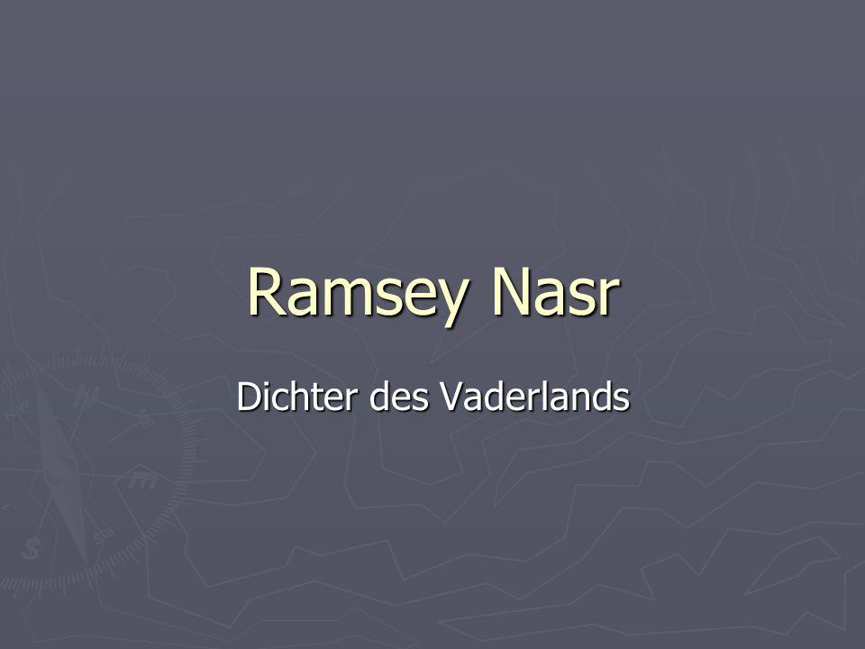 Ramsey Nasr Dichter des Vaderlands