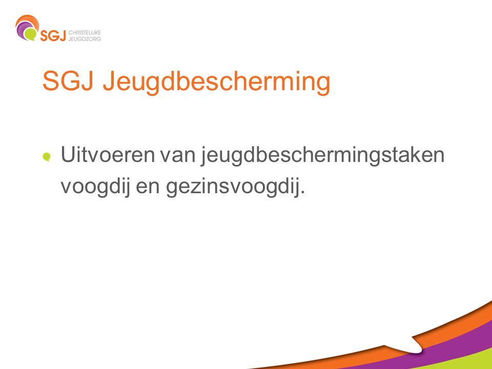 SGJ Jeugdbescherming Uitvoeren van jeugdbeschermingstaken voogdij en gezinsvoogdij.