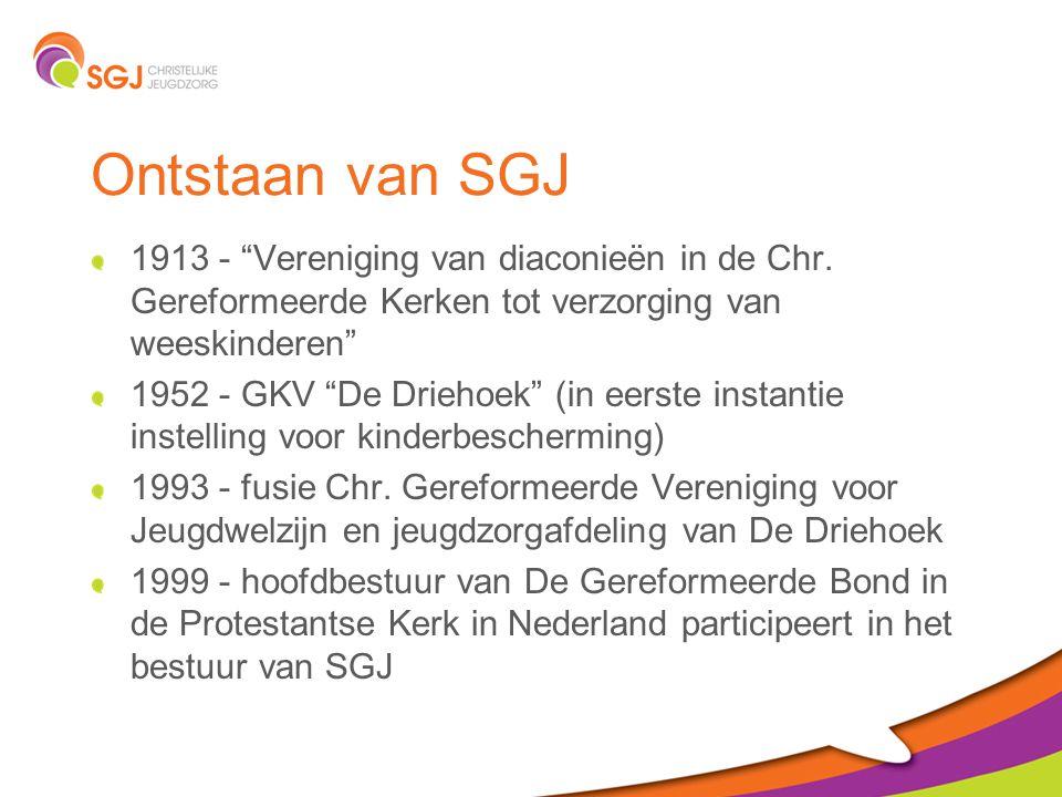 Ontstaan van SGJ 1913 - Vereniging van diaconieën in de Chr.