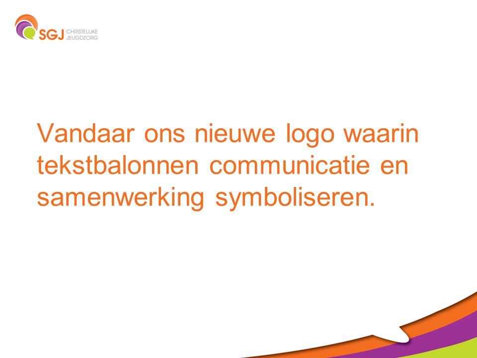 Ons nieuwe logo De kleinste vorm symboliseert het kind. Groen: veiligheid en herstel.