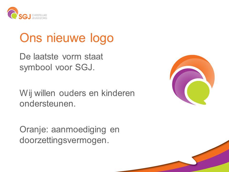 Ons nieuwe logo De laatste vorm staat symbool voor SGJ.