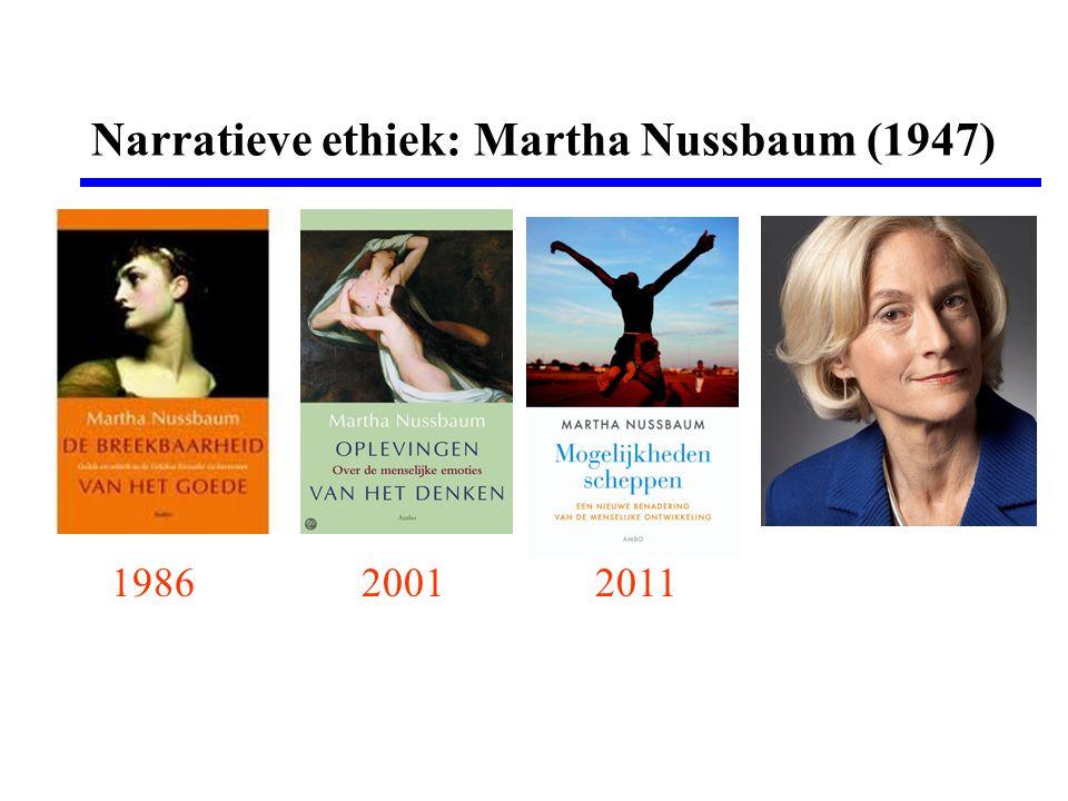 Narratieve ethiek: Martha Nussbaum (1947) 198620012011