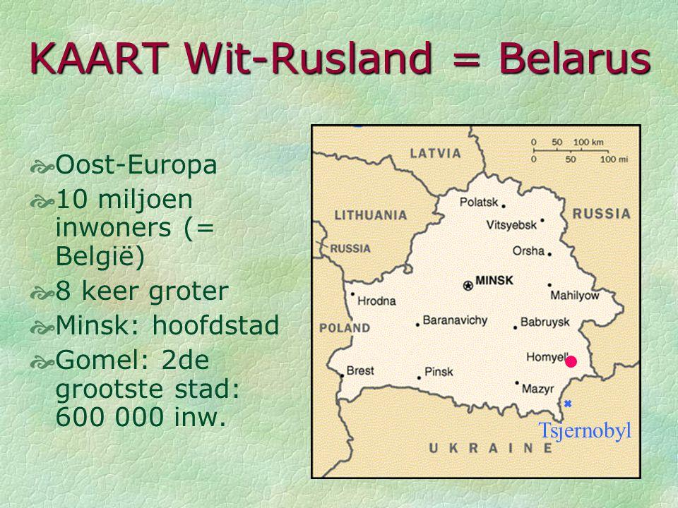 KAART EUROPA Belarus België