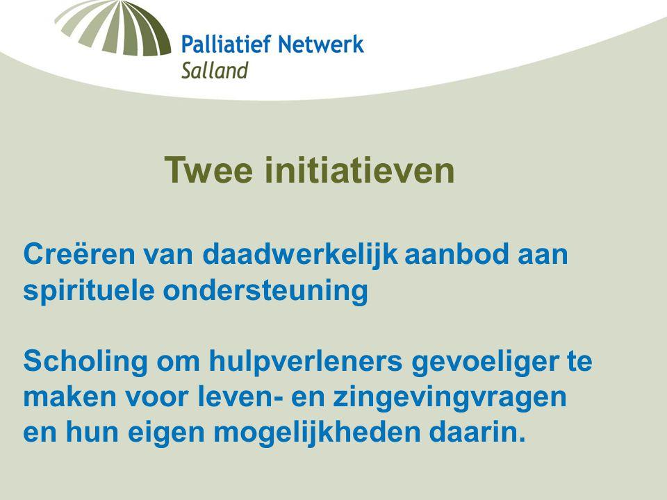 Minisymposium Deventer Ziekenhuis Berdine Koekoek, netwerkcoördinator palliatieve zorg Salland 19-09-2006 Twee initiatieven Creëren van daadwerkelijk