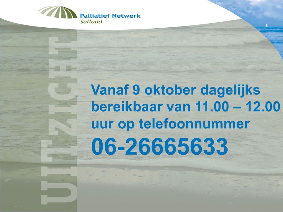 Folder uitzicht Vanaf 9 oktober dagelijks bereikbaar van 11.00 – 12.00 uur op telefoonnummer 06-26665633
