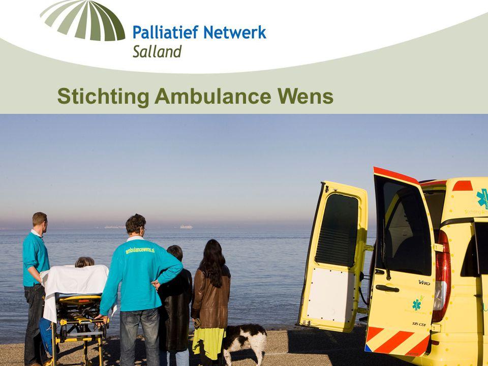 Minisymposium Deventer Ziekenhuis Berdine Koekoek, netwerkcoördinator palliatieve zorg Salland 19-09-2006 Stichting Ambulance Wens