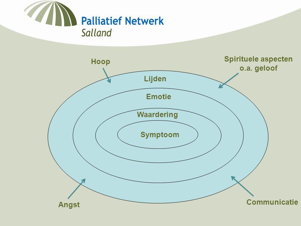 Symptoom Waardering Emotie Lijden Hoop Spirituele aspecten o.a. geloof Communicatie Angst