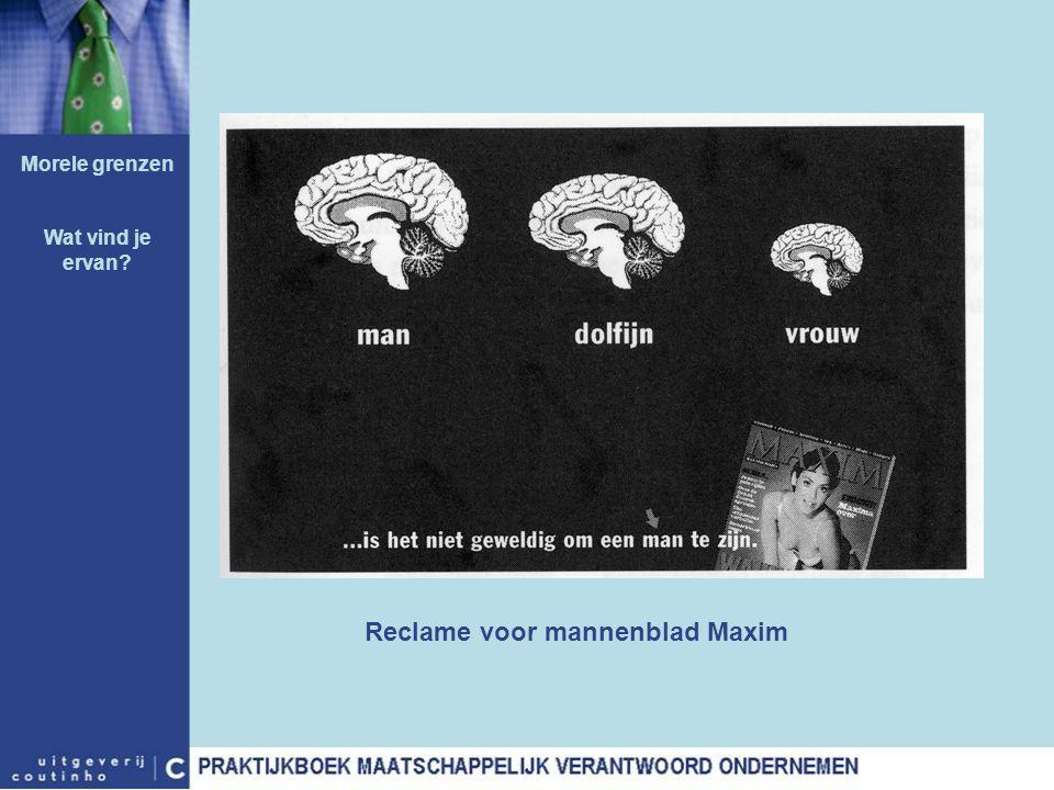 Reclame voor mannenblad Maxim Morele grenzen Wat vind je ervan?
