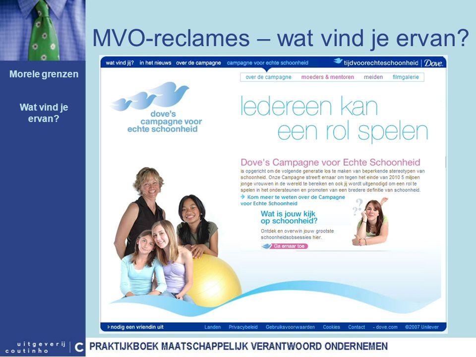 MVO-reclames – wat vind je ervan? Morele grenzen Wat vind je ervan?