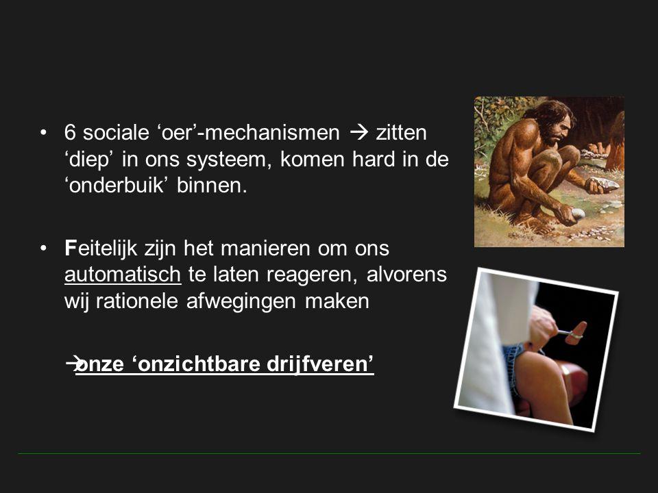6 sociale 'oer'-mechanismen  zitten 'diep' in ons systeem, komen hard in de 'onderbuik' binnen.