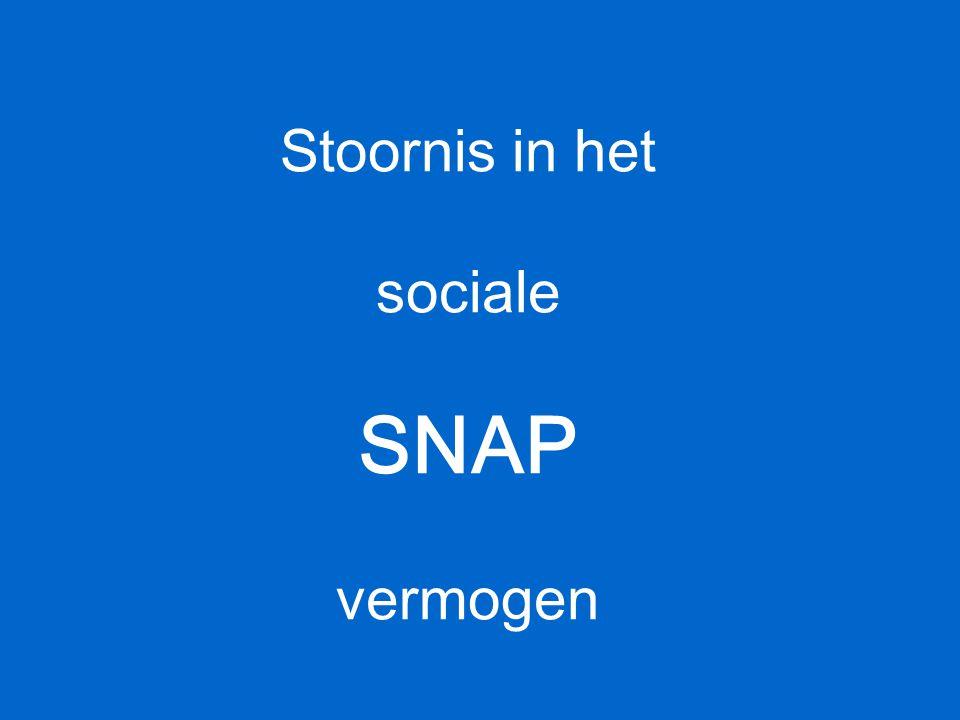 Stoornis in het sociale SNAP vermogen