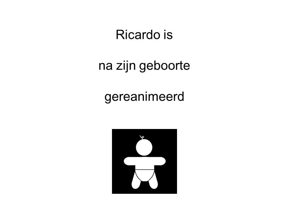 Ricardo is na zijn geboorte gereanimeerd