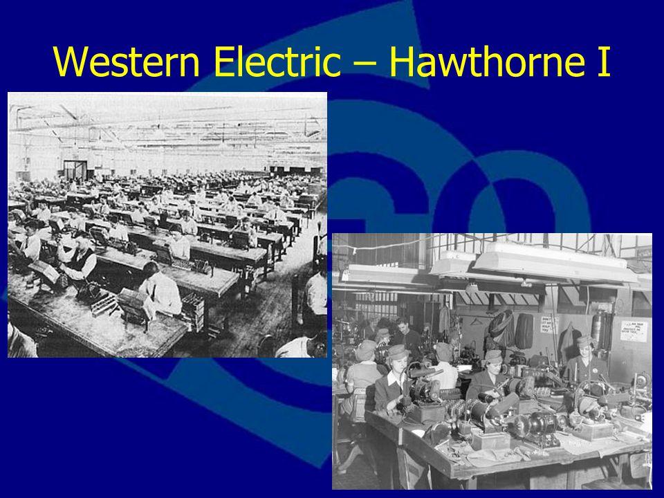 Western Electric – Hawthorne I