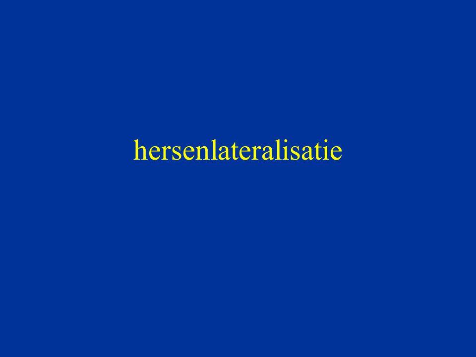 Van Strien & Boon (1997) 16 rechtshandige mannen VH-taak: lexicale decisie Condities –baseline –pink noise –Penderecki (Threnody for the Victims of Hiroshima) –Holst (Jupiter the Bringer of Jollity) RT: woord/pseudowoord