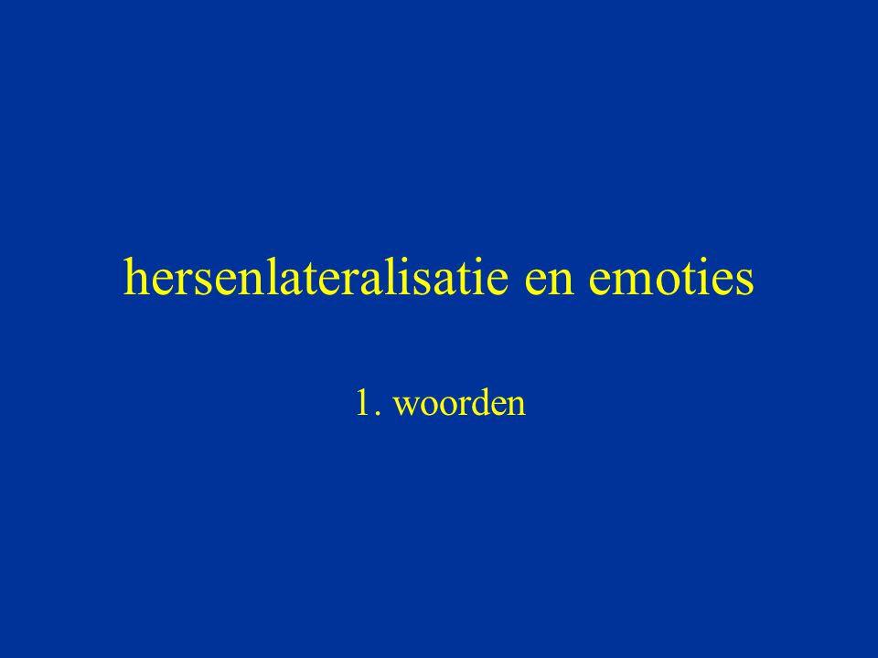 hersenlateralisatie en emoties 1. woorden