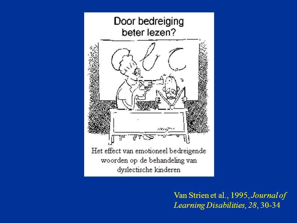 Van Strien et al., 1995, Journal of Learning Disabilities, 28, 30-34
