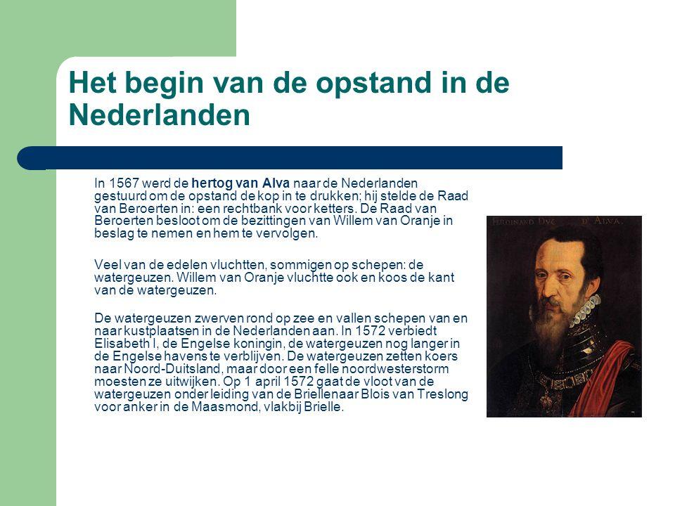 In 1567 werd de hertog van Alva naar de Nederlanden gestuurd om de opstand de kop in te drukken; hij stelde de Raad van Beroerten in: een rechtbank vo