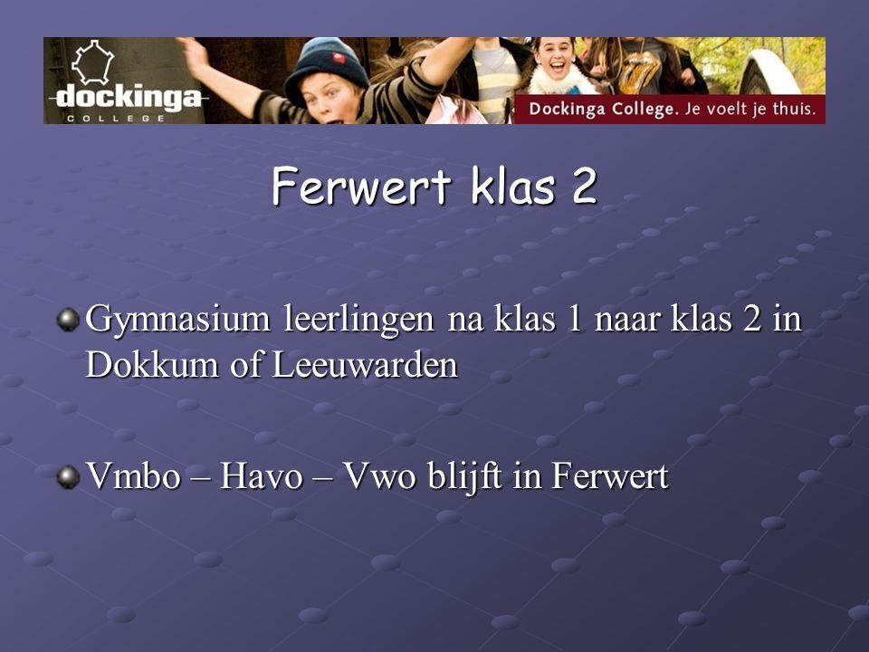 Ferwert klas 2 Gymnasium leerlingen na klas 1 naar klas 2 in Dokkum of Leeuwarden Vmbo – Havo – Vwo blijft in Ferwert