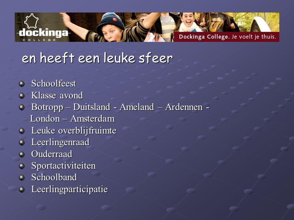 en heeft een leuke sfeer en heeft een leuke sfeer Schoolfeest Schoolfeest Klasse avond Klasse avond Botropp – Duitsland - Ameland – Ardennen - Botropp