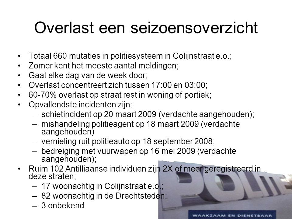Regiegroep Colijnstraat Start zomer 2008, o.lv.