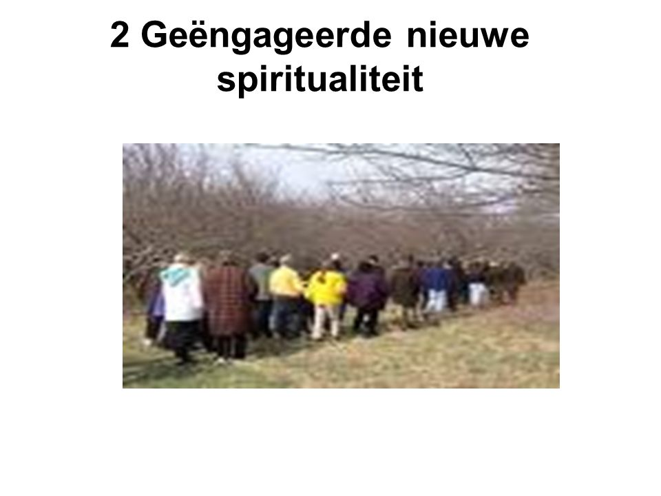 2 Geëngageerde nieuwe spiritualiteit