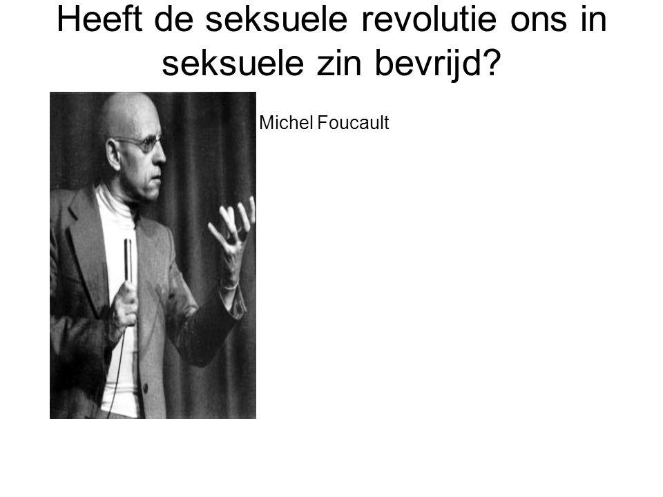 Heeft de seksuele revolutie ons in seksuele zin bevrijd? Michel Foucault