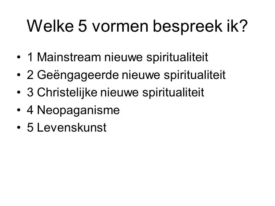 1 Mainstream nieuwe spiritualiteit [i][i] Anton de Wit, 'The Secret: gnostiek in een modern jasje'.