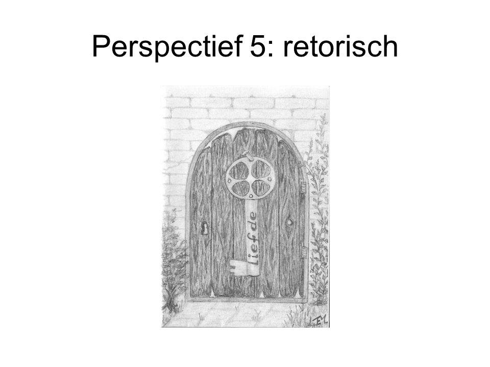Perspectief 5: retorisch