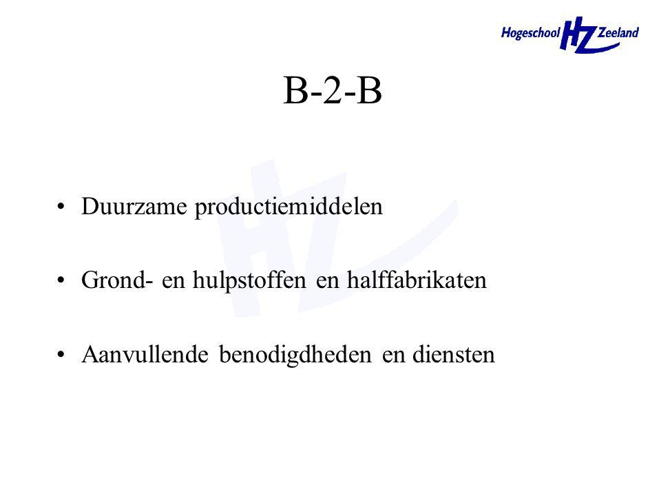 Wat zijn de verschillen tussen aankoopgedrag van een consument en een bedrijf? B-2-B