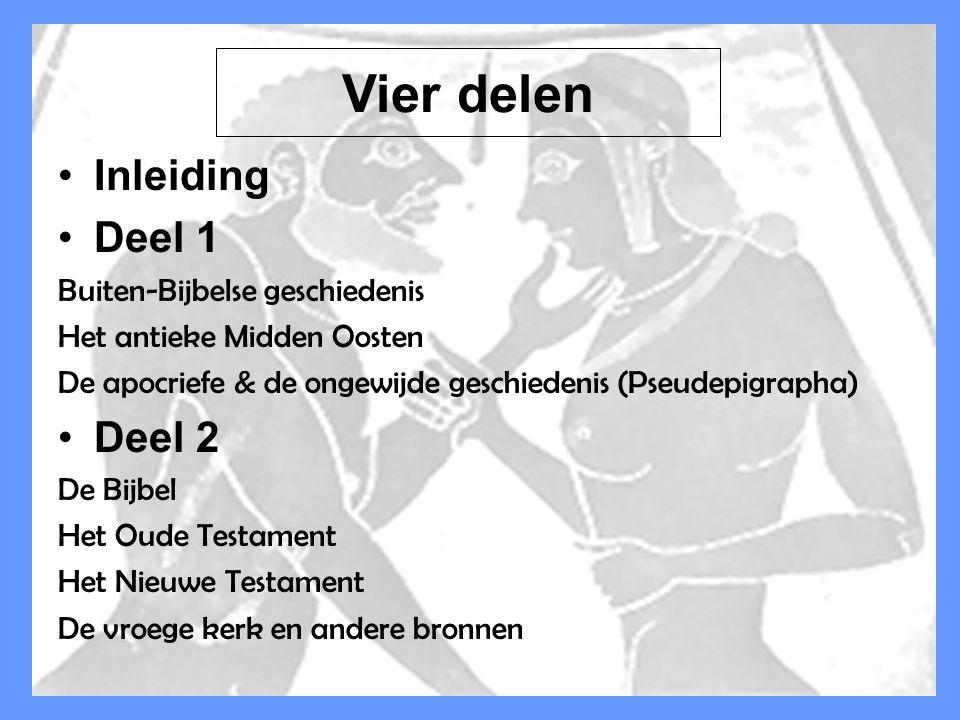 Dr Peet H Botha13 INDEX Inleiding Deel 1 Buiten-Bijbelse geschiedenis Het antieke Midden Oosten De apocriefe & de ongewijde geschiedenis (Pseudepigrap