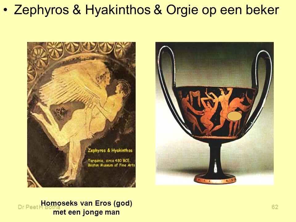 Dr Peet H Botha62 Zephyros & Hyakinthos & Orgie op een beker Homoseks van Eros (god) met een jonge man