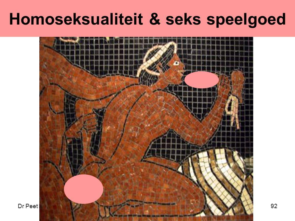 Dr Peet H Botha92 Homoseksualiteit & seks speelgoed