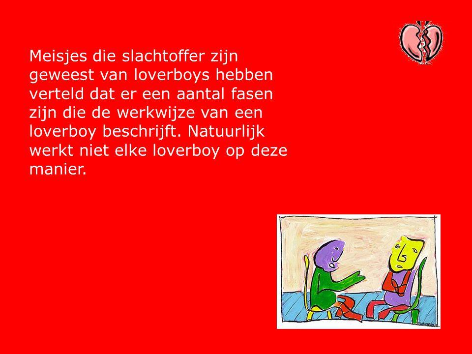 Meisjes die slachtoffer zijn geweest van loverboys hebben verteld dat er een aantal fasen zijn die de werkwijze van een loverboy beschrijft. Natuurlij