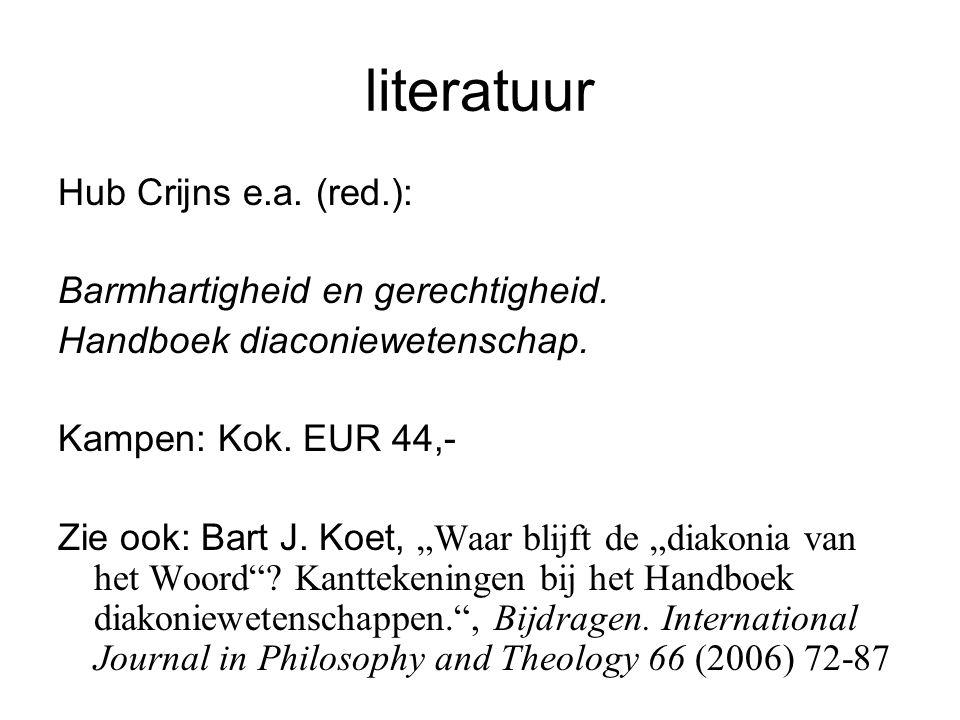 literatuur Hub Crijns e.a. (red.): Barmhartigheid en gerechtigheid.