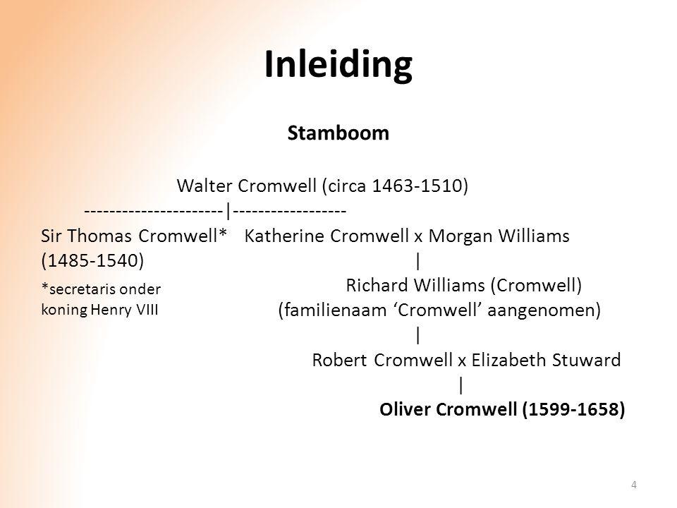 Inleiding Stamboom Walter Cromwell (circa 1463-1510) ----------------------|------------------ Sir Thomas Cromwell*Katherine Cromwell x Morgan William