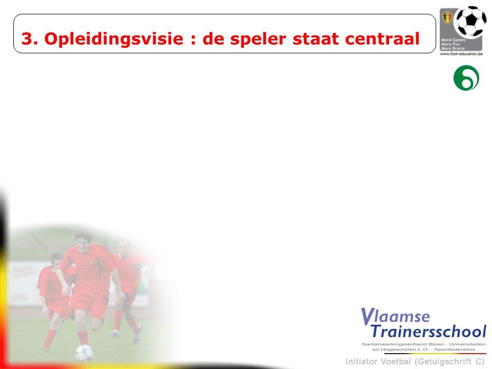 Initiator Voetbal (Getuigschrift C) 3. Opleidingsvisie : de speler staat centraal