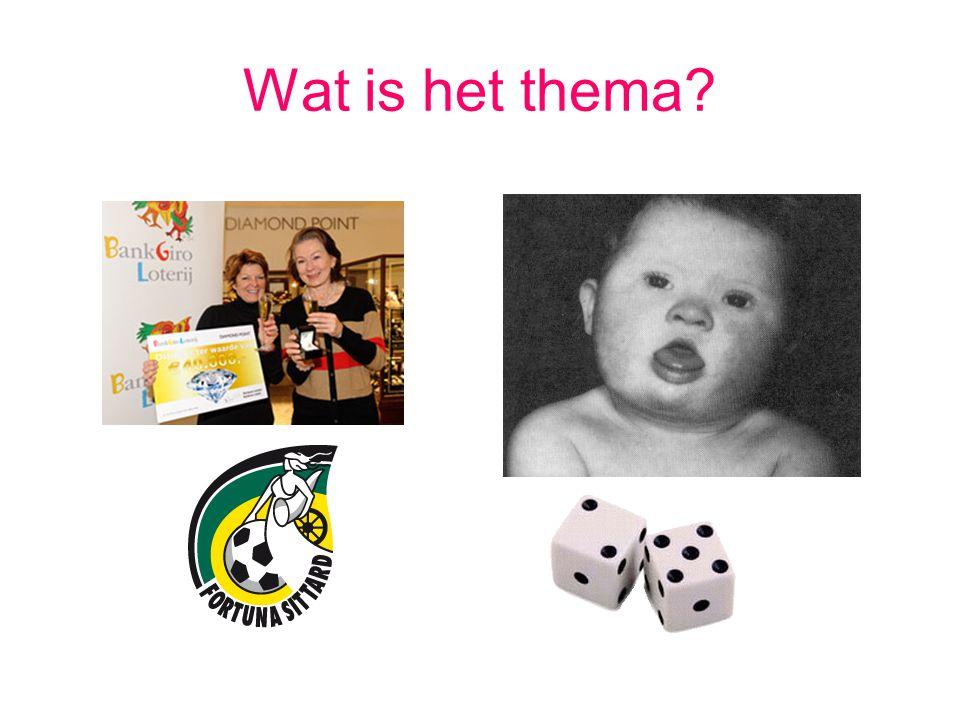 Wat is het thema?