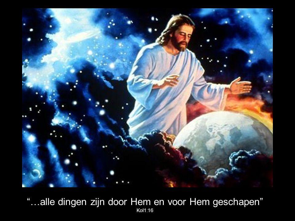 …alle dingen zijn door Hem en voor Hem geschapen Kol1:16