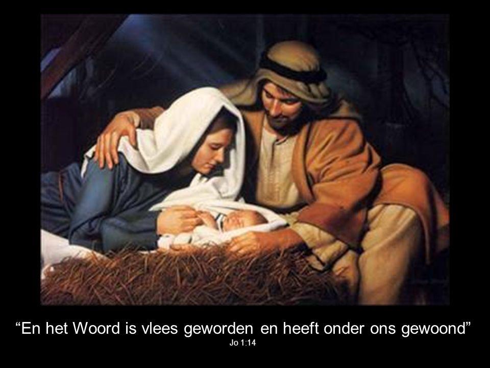 En het Woord is vlees geworden en heeft onder ons gewoond Jo 1:14